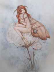 Moth girl :3 by ARiA-Illustration