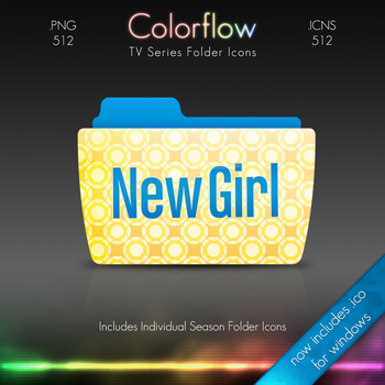 Colorflow TV Folder Icons: New Girl by Crazyfool16