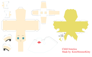 Child America Papercraft by KimiMonsterKitty