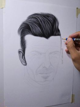 David Beckham WIP by reevanarts