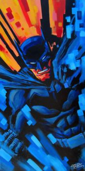 Batman Painting by KidNotorious