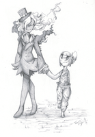 Walking with a Shadow by Terastrial-Sprout