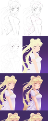 Sailor Moon | Process by xKittyblue