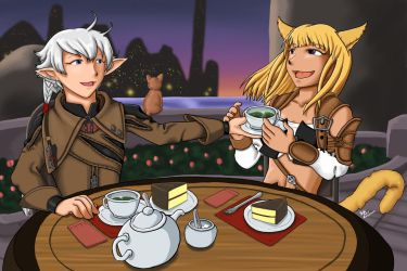 FFXIV - Tea Date with Alisaie by ayarane