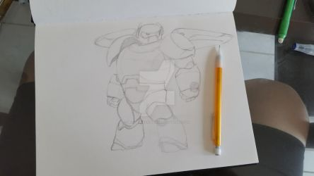 Baymax Sketch by BelovedlessUnBlind