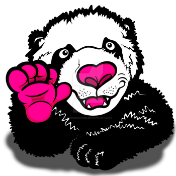 Happy Waving Panda by sookiesooker