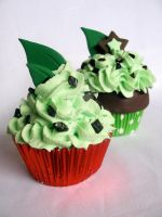 Mint Chip Cupcakes by kimchikawaii
