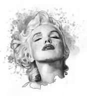 Marylin: Noir by redghostman