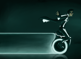 TRON: Unilight Cycle. by Maiden-Chynna