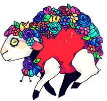Flowery Sheep by afroclown