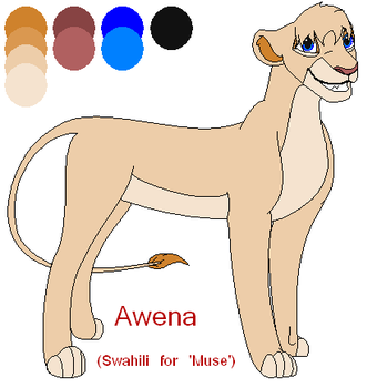 Awena The Lioness by xZethanyx