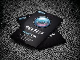 Photographer Lens Business Card by odindesign