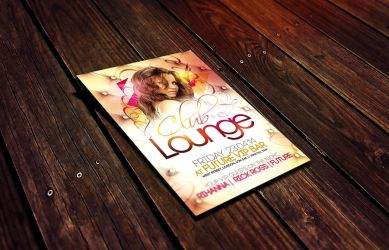 Club Lounge Flyer Template by Dannygdesigns