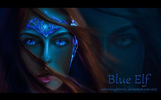 Blue Elf by Sisterslaughter165