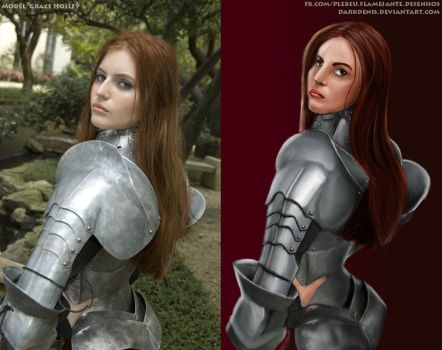Grace Holley illustration comparison by DarkDenis