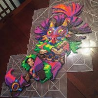 Skull Kid Perler Bead Art by NateScreenPrints