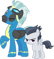 Thunderlane and Rumble by CloudyGlow