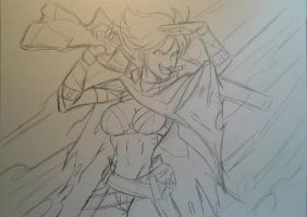 Graves female version sketch by MikeES