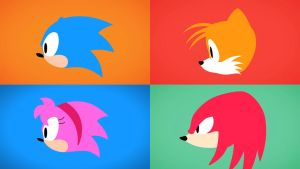 Sonic Mania Silhouette Wallpaper + Amy by JcFerggy
