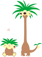 Exeggcute and Exeggutor Base