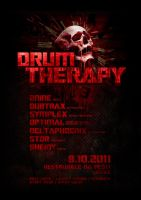 DRUM THERAPY 3 flyer by 2NiNe