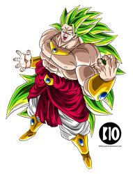 Broly LSSJ3 DBZ Dokkan Battle Render by BillyZar