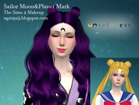 Sailor Moon Mark for thesims4 by ng9