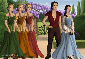 Gastone, Belle and bimbettes by DaughterGothel