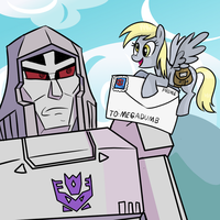 Derpy is not a good spy by DizzyPacce