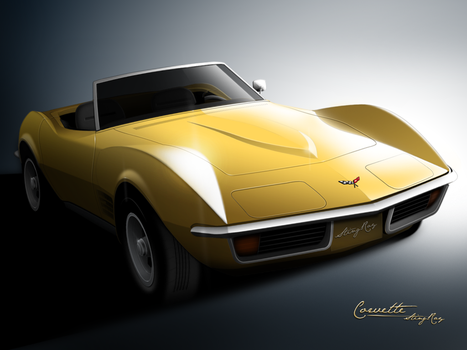 Corvette Sting-Ray - 1971 by mukundnadkarni