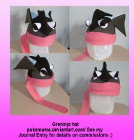 Greninja hat by PokeMama