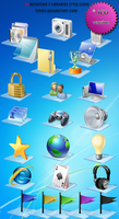 Windows 7 Libraries icons .ico by tonev
