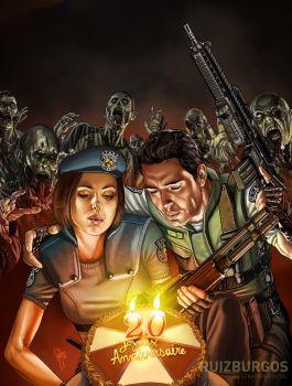 RESIDENT EVIL - The Game Magazine art by RUIZBURGOS