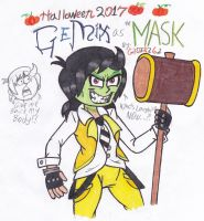Halloween 2017: GeMix as The Mask by gilster262