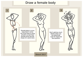 How to draw female body by Shesvii