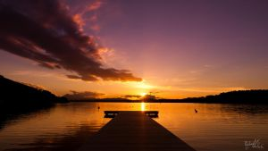 Sunset Wallersee by MadMike27
