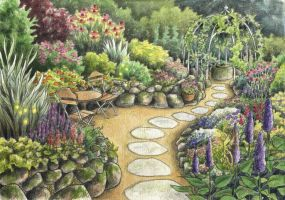The Garden at Lakes End by Lhox