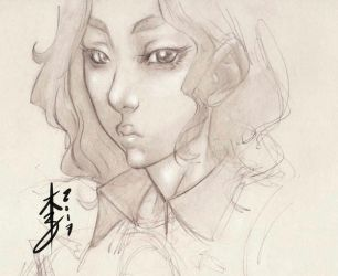 Beauty Sketch 09-01-2017 by arcais