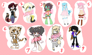 Reselling old adopts/characters [lowered prices] by faenatical