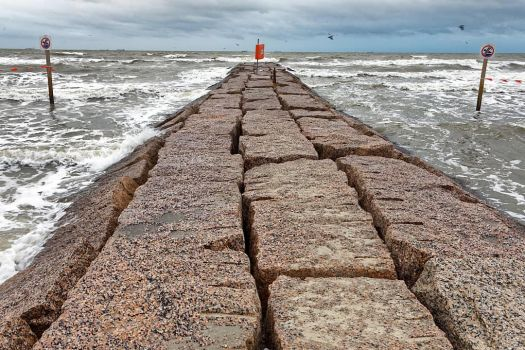 Galveston Beach breakwater by sequential