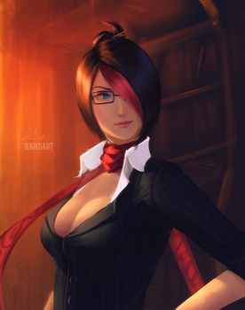 Sketch Commission: Headmistress Fiora by raikoart