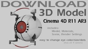 3D Model Download -GLaDOS Core by 100SeedlessPenguins