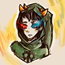 Some messy god tier sollux by EvilCrayonsOfDoom