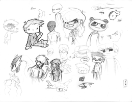 Doodles 2/28 by Saber-Cow