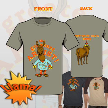 Greatest Llama Artist T-Shirt by Arkan85