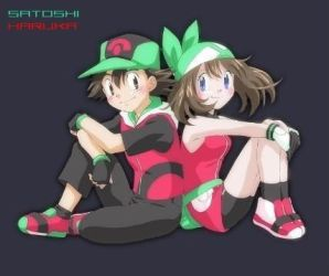 Ash and May by RitchieElite