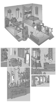 World Building / Days 39-40 : House Interiors by BrotherBaston