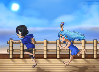 Look at Those Kids Running Along the Beach by Tears-of-Xion