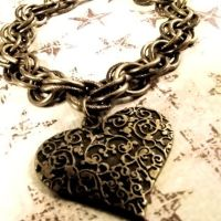 Victorian Grunge Heart by Om-Society