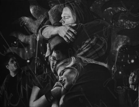 Xmas Gift for Coco - Charcoal Dry-Painting by TreeClimber